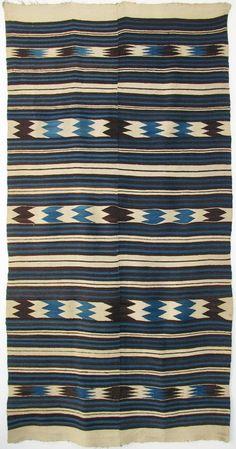 Not Navajo.either Chimayo, Rio Grande, or Mexican. Textiles, Textile Patterns, Textile Design, Print Patterns, Native American Blanket, Native American Rugs, Navajo Weaving, Navajo Rugs, Indigo