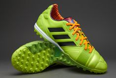 adidas Football Boots - adidas Nitrocharge 2.0 TRX Turf - Astro Turf - Soccer Cleats - Solar Slime-Black-Solar Zest