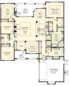 Plan 33075zr Private Master Retreat Options House Floor