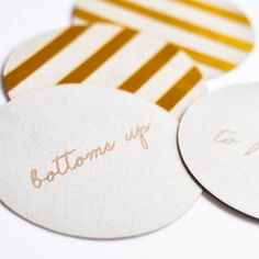 Add some pizzazz to your party with these #DIY gold coasters from @Tara @ Suburble. They're sure to be a hit! /ES