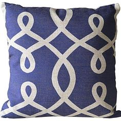 The Blue Spiral Pattern Decorative Pillow Cover – EUR € 12.37