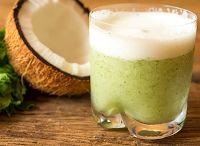 Suco de Água de Coco, Abacaxi, Hortelã e Gengibre