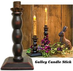 """The Galley Candle Stick is a beautiful holder for your battery operated tapers. It is 8-1/2"""" tall."""