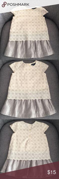 Baby Gap Toddler Girl Dress Ivory Shimmery Dress, 18-24 months GAP Dresses Formal