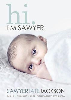 Cute Birth Announcement Ideas!