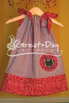 Ole Miss Collegiate-Inspired Pillowcase Dress SIZE 3T
