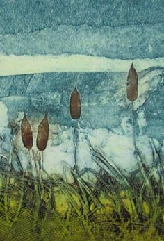 Collagraph Printmaking, Contemporary Printmaking, Gelli Plate Printing, Sarah Ross, Sketchbook Inspiration, Abstract Landscape, Textile Art, Collage Art, Creative Art