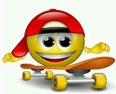 Skateboard smile