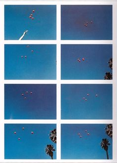 John Baldessari : Throwing Four Balls in the Air to Get a Square (Best of 36 Tries), 1974
