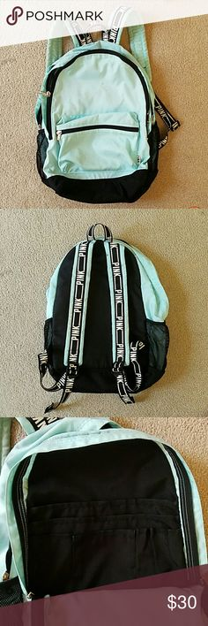 4cec484b6b9e VS PINK backpack In Mint color Victoria s Secret Pink backpack in mint  color. Straps say