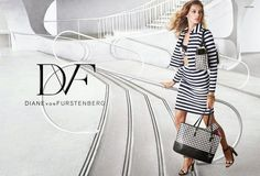 Hilary Blonde: Daria Werbowy posa para la nueva campaña primavera-verano 2015 de Diane von Furstenberg