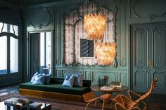 At Palazzo Fendi in Rome, Dimore Studio designed the luxury fashion house s  VIP apartment, which features vintage Venini chandeliers, a lounge chair  and ... e1b61ef07fb