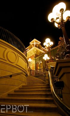 Train station at the Magic Kingdom. (Everyone seems to agree this is the best stairway shot!)
