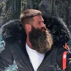 The Beard & The Beautiful Mike Baer saved to Beard men Moustache, Beard No Mustache, Long Beard Styles, Hair And Beard Styles, Great Beards, Awesome Beards, Hairy Men, Bearded Men, Barba Grande