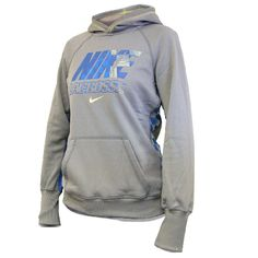 Nike Lacrosse Girls Lax All Time Hoody in Grey with check print