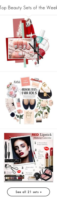 """Top Beauty Sets of the Week"" by polyvore ❤ liked on Polyvore featuring beauty, Essie, Butter London, Christian Dior, Chloé, undrest., Adrienne Landau, H&M, IRIS VON ARNIM and Yves Salomon"