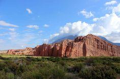 Los Castillos within the Quebrada de las Conchas in Cafayate Argentina