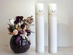 Lumanari nunta scurte personalizate cu data si nume - Lumânări Decorative - GB Design - Handmade
