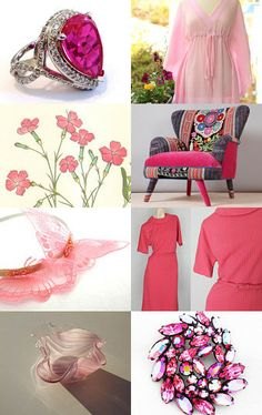 PINK MAKES ME HAPPY :) by Micquels Maddness Clothing and Jewelry on Etsy--Pinned with TreasuryPin.com