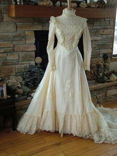 Mariage robe des années 70 vintage robe de par RetroVintageWeddings