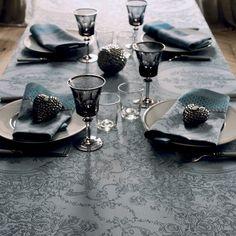 Serviette de table collection automne Garnier-Thiebaut - Modèle : Flanerie - Serviette de table en coton - Coloris : givré
