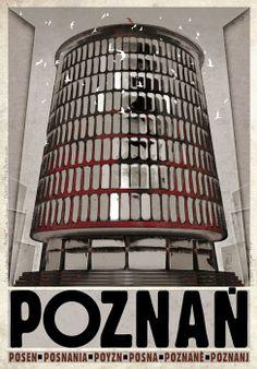 Poznan, Posen, Posnania, Polish Poster