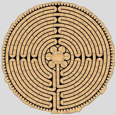 Chartres Cathedral labyrinth plan