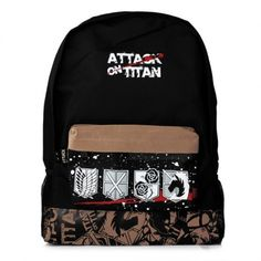 "Attack on Titan Zipper Backpack 18"" $21.69"