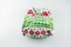 Christmas Cloth Diaper Newborn Small Fitted Cloth by BICKLEBEAR