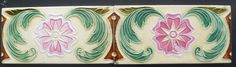 Jugendstil Fliese, Fadenrelief, Belgium, Art Nouveau, Kachel,Tile, Riemchen,