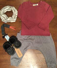 Polo: Red Carrot // Pantalón: Red Carrot // Cuello: Red Carrot // Portachupón: Red Carrot // Zapatos: Minimox
