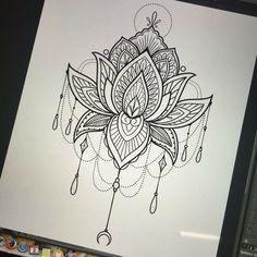 Mandala lotus tattoo