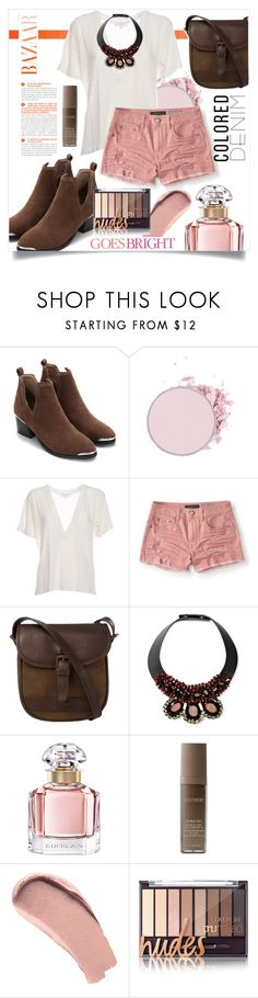"""""""Colored Denim"""" by redcatmeow ❤ liked on Polyvore featuring IRO, Aéropostale, DUBARRY, Marni, Guerlain, Laura Mercier, Burberry and Celestine"""