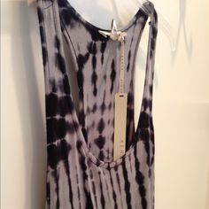 Kenar Tie-Dye Tank Top Cute tie-dye, racer back tank top from Kenar. Blue and gray in color. 95% viscose, 5%  spandex. 25.5 inches long.  Hand wash in cool water, hang to dry.  No trades or Paypal please.  NWT. Kenar Tops Tank Tops