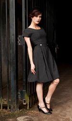 classy charcoal dress...love it!