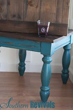 Southern Revivals - I have two light oak tables that I don't use....maybe I'll refinish them now!!!