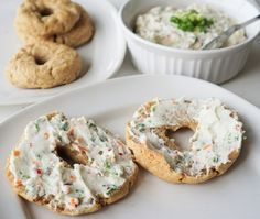 Paleo-AIP Bagels with AIP Veggie 'Cream Cheese' from Flash Fiction Kitchen