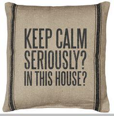Flour Sack Pillow - Seriously?