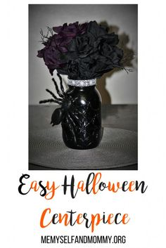 Do you need an easy and cheap Halloween centerpiece for your table? Click the link for instructions on how to make this easy  DIY Halloween Decor.