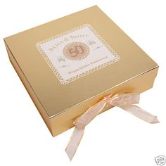 Can be satin lined Gold Golden Anniversary Gifts, Stock Box, Keepsake Boxes, 50th, Gift Wrapping, Keepsakes, Satin, Ebay, Beautiful