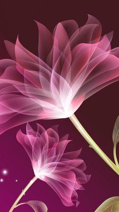 640x1136 Wallpaper flower, scales, smoke, clover