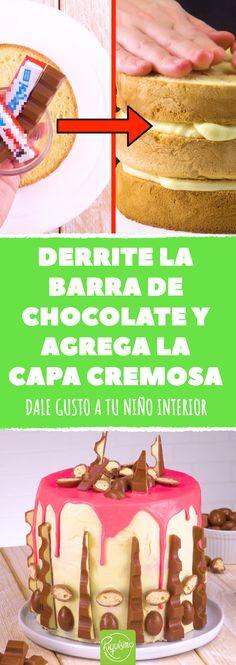 Un pastel para chicos y grandes hecho con barras de chocolate Kinder. Si eres un fan de las barritas Kinder, aquí tienes un postre delicioso.  #pastel #tarta #chocolate #tartadechocolate #pasteldechocolate #cumpleaños #fiestasdeniños #Kinder