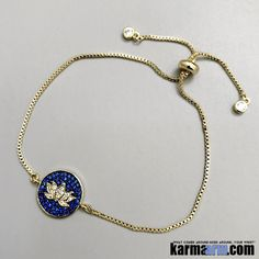 Yoga Charm Bracelets. Lotus Flower Chain.
