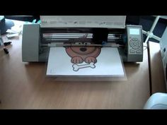 This video shows a quick 12x12 print & cut on the new Silhouette Cameo.     The image I used was imported in to Silhouette studio, traced using the Trace tool and then cut from standard 80gsm paper using the settings: thickness 10, speed 10 and a blade setting of 2.