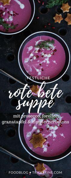 festliche rote bete suppe ♥ trickytine.com #food #blog #beetroot #soup #christmas #trickytine