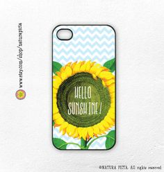 Sunflower hello sunshine quote for iphone case 4/4S by naturapicta, $19.99 ©NATURA PICTA