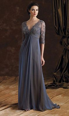 Montage by Mon Cheri 29980-Iridescent silk chiffon A-line dress with hand-beaded…