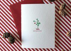 Merry Little Christmas Letterpress Cards Set by paperlovelypress, $16.00