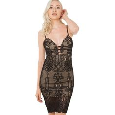 """Luxxel sexy illusion lace mini cut out dress Dress by luxxel. Purchased at image boutique in Beverly Hills. Beautiful but slightly big on me, size states S but fits a little loose on the waist for me. I'm a 25"""" this would fits 26"""" or 27"""" Nasty Gal Dresses Mini"""
