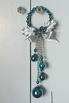 Vacuuming in high heels & pearls: More Christmas crafting: vintage-style hanging glass bead ornaments
